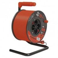 Emos prodlužovací buben - 4 zásuvky, 25m, 1.5mm, PVC, IP20