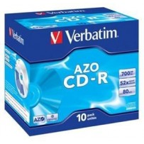 VERBATIM CD-R AZO 700MB, 52x, jewel case 10 ks
