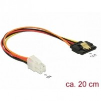 Delock Kabel P4 samec - SATA 15 pin samice 20 cm