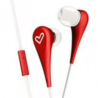 ENERGY Earphones Style 1+ Red, sluchátka s mikrofonem, 90±3dB, 3.5 mm mini jack
