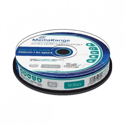 MEDIARANGE DVD+R 8,5GB 8x Dual Layer spindl 10ks Inkjet Printable