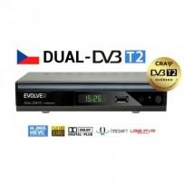 EVOLVEO Gamma T2, Dual HD DVB-T2 H.265/HEVC multimediální rekordér, HDMI, SCART, USB