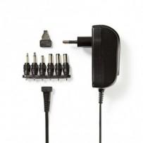 Nedis ACPA002 - Univerzální napájecí adaptér | 3/4,5/5/6/7,5/9/12 V DC | 1.5 A