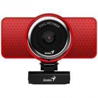 GENIUS webová kamera ECam 8000/ červená/ Full HD 1080P/ USB2.0/ mikrofon