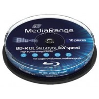 MEDIARANGE BD-R BLU-RAY 50GB 6x Dual Layer spindl 10ks