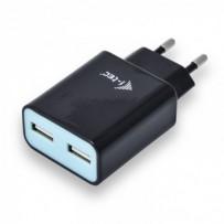 i-tec USB Power Charger 2 Port 2.4A Black