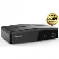 STRONG DVB-T/T2 přijímač SRT 8209/ bez displeje/ Full HD/ H.265/HEVC/ PVR/ EPG/ USB/ HDMI/ LAN/ SCART/ černý