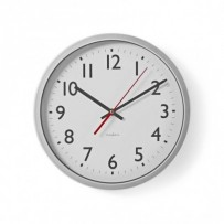 Nedis CLWA110WT - Nástěnné hodiny | 30 cm | Bílá barva