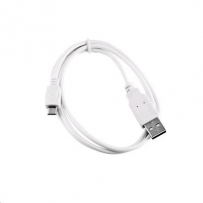 Kabel C-TECH USB 2.0 AM/Micro, 2m, bílý