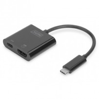 DIGITUS Grafický adaptér HDMI 4K HDMI Type-C ™ + USB-C ™ (PD)