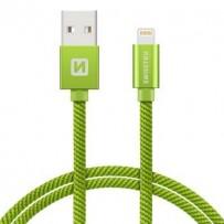 SWISSTEN DATA CABLE USB / LIGHTNING TEXTILE 2,0M GREEN