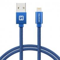 SWISSTEN DATA CABLE USB / LIGHTNING TEXTILE 2,0M BLUE