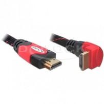 Delock HDMI 1.4 kabel A/A samec/samec pravoúhlý, délka 2 metry
