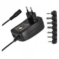 Emos univerzální napájecí zdroj pulzní N3112, 3-12 V / 1.5 A max., s hřebínkem, USB
