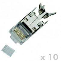 DATACOM Plug STP CAT7(6A) 8p8c- RJ45 drát (10ks)