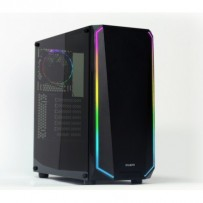Zalman case miditower K1, ATX MID, Tempered glass & Spectrum LED, bez zdroje, USB3.0, černá