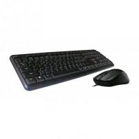 C-TECH klávesnice s myší KBM-102, drátový combo set, USB, CZ/SK