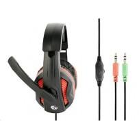 Herní sluchátka s mikrofonem Gembird GHS-03 Gaming, černo-červená