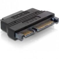DeLock adaptér SATA 22pin samec -- Slim SATA 7+6pin samice