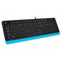 A4tech FK10 FSTYLER , klávesnice, CZ/US, USB, voděodolná, modrá barva