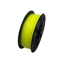 Tisková struna (filament) GEMBIRD, PLA, 1,75mm, 1kg, fluorescenční žlutá