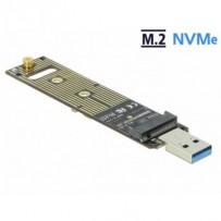Delock Převodník pro SSD M.2 NVMe PCIe s USB 3.1 Gen 2