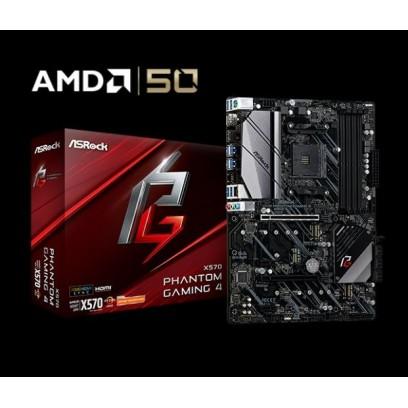 ASROCK MB X570 PHANTOM GAMING 4 (AM4, amd X470, 4xDDR4 4066, PCIE, HDMI +DPort, 8xSATA3 +M.2, USB3.2, 7.1, GLAN, ATX)