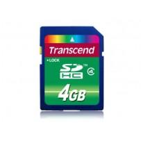 Transcend 4GB SDHC (Class 4) paměťová karta, modrá/černá