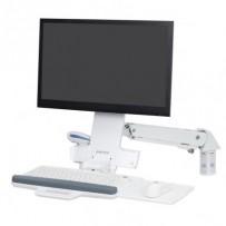 ERGOTRON StyleView® Sit-Stand Combo Arm (white),nástěnný držák do lišty LCD, klávesnice+ myš,sklopný, bílá