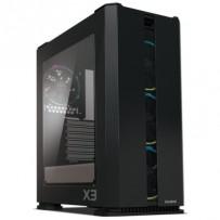 Zalman case X3 černá, Skříň, Middle tower, bez zdroje, ATX, 2x USB 3.0, 2x USB 2.0, průhledná bočnice, ARGB ventilátory