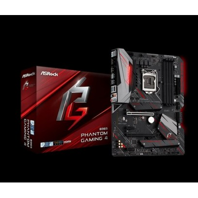 ASROCK MB B365 PHANTOM GAMING 4 (intel 1151v2 coffee lake, 4xDDR4 2666MHz, HDMI +Dport, USB3.1, 6xSATA3 + 2xM.2, 7.1, GLAN, ATX)