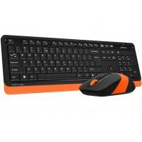A4tech FG1010 FSTYLER set bezdr. klávesnice + myši, voděodolné provedení, oranžová barva