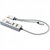 YENKEE YHC 103SR USB C OTG HUB+čtečka