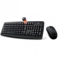 GENIUS Smart KM-8100 set klávesnice a myši, bezdrátový, CZ+SK layout, 2,4GHz, mini USB přijímač, SmartGenius App, černý