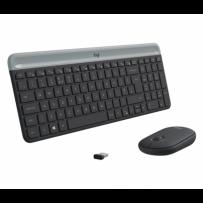 Logitech klávesnice s myší Wireless Combo Slim MK470 CZ/SK - šedá