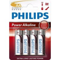 Philips baterie AA PowerLife, alkalická - 4ks