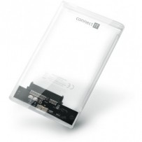 "CONNECT IT ToolFree Clear externí box pro HDD 2,5"" SATA, USB 3.0, TRANSPARENTNÍ"