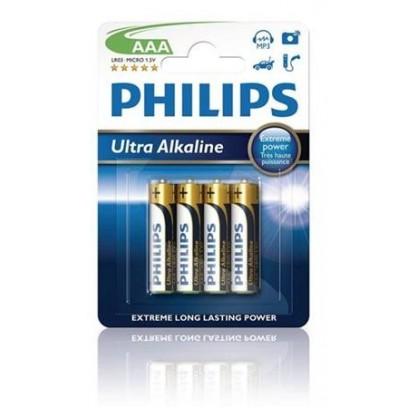 Philips baterie AAA ExtremeLife+, alkalická - 4ks