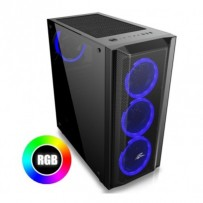 "EVOLVEO Ptero Q1, case ATX , x RGB Rainbow Ring 120mm ventilátory , 2x 2,5 "" SSD"