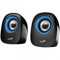 Genius repro SP-Q160, přenosné repro, 2.0, 6W, USB napájení, 3,5mm jack, černo-modré
