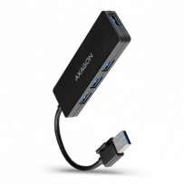 AXAGON HUE-G1A, 4x USB 3.2 Gen 1 SLIM hub, kabel Type-A 14cm napevno