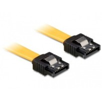 Kabel SATA III 20 cm, přímý/přímý, žlutý, kovová západka