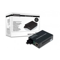 DIGITUS Media Converter, Multimode, 10/100/1000Base-T to 1000Base-SX, Incl. PSU SC connector, Up to 0.5km