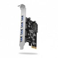 AXAGON PCEU-430VL, PCIe řadič, 4x USB3.2 Gen 1 port, UASP