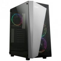 Zalman case miditower S4 Plus, bez zdroje, ATX, 1x USB 3.0, 2x USB 2.0, průhledná bočnice, černo-šedá