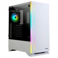 Zalman case miditower S5 Bílá, bez zdroje, ATX, 1x USB 3.0, 2x USB 2.0, průhledná bočnice, bílá
