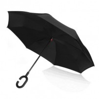 PLATINET poloautomatický deštník, polyester, černý