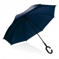 PLATINET poloautomatický deštník, polyester, modrý