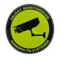 Kamerové a zabezpečovací systémyAnalogové systémyPříslušenstvíNálepkySamolepka - objekt monitorován kamerovým