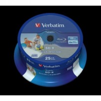 VERBATIM BD-R SL DataLife 25GB, 6x, printable, spindle 25 ks